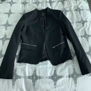 Blazer with Zipper Detail